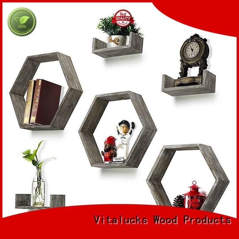 Vitalucks hot-sale decorative wall shelving units logo engraved