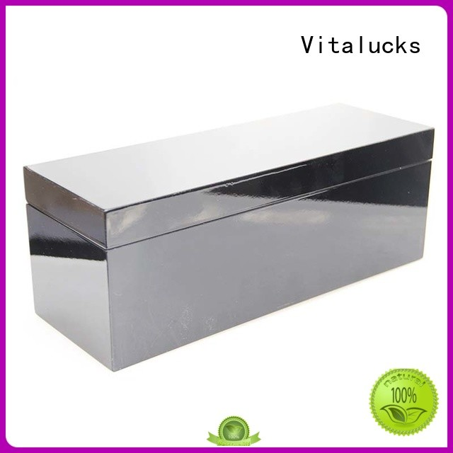 Vitalucks wooden tea box OEM&ODM at discount