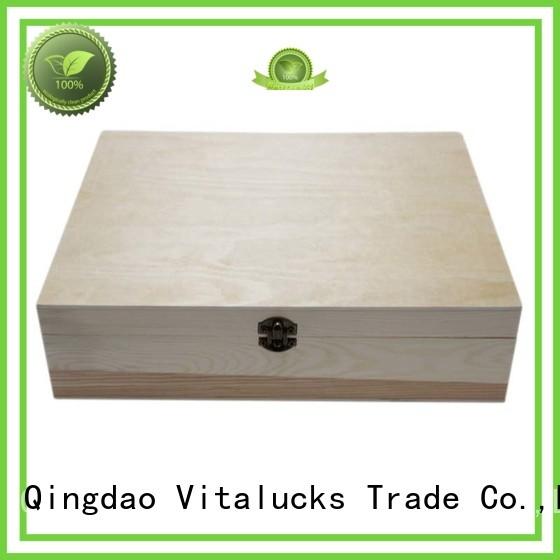 Vitalucks wooden gift boxes wholesale favorable price