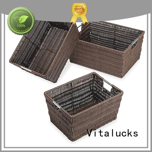 Vitalucks light-weight stackable wicker baskets popular fast delivery