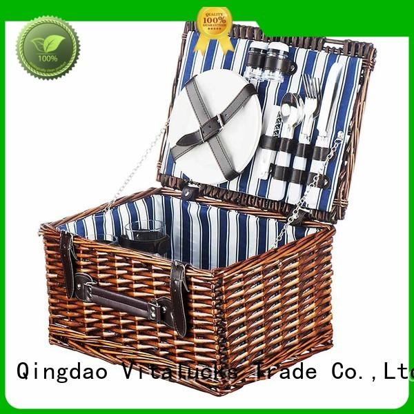 Large Wicker Baskets picnic basket 2 person set