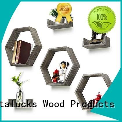 decorative floating wall shelves wood ecofriendly logo engraved