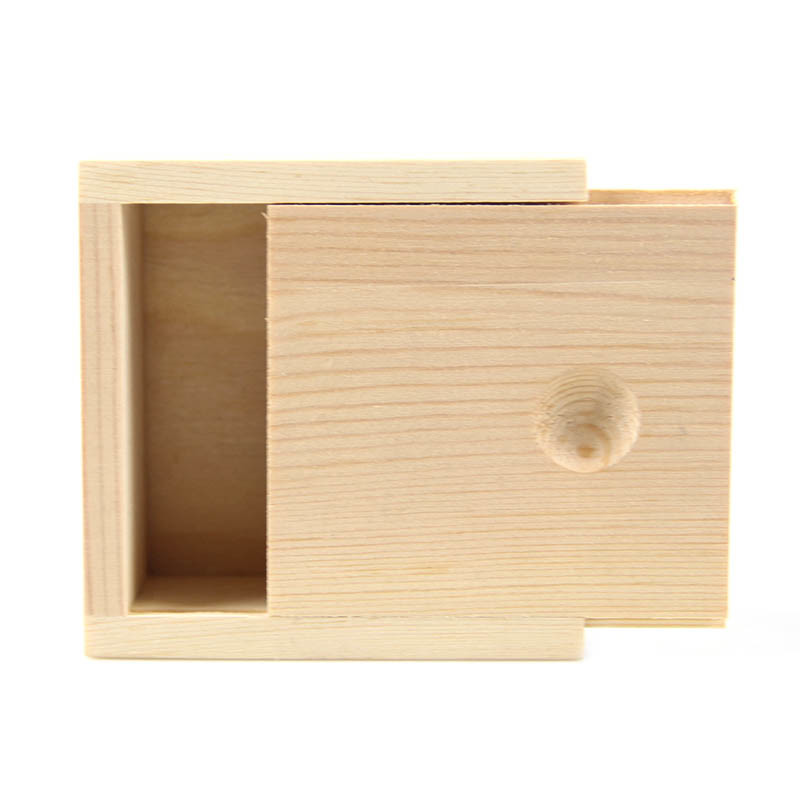 Hot sale customized unfinished small slid lid plain wooden box