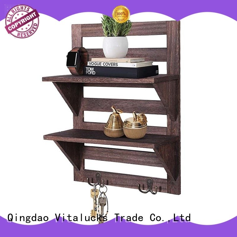 decorative long wood wall shelf fast delivery Vitalucks