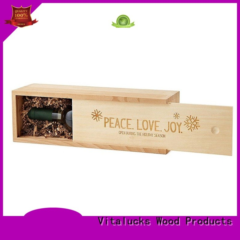 Vitalucks wooden wine boxes wholesale oil essential packing fast delivery