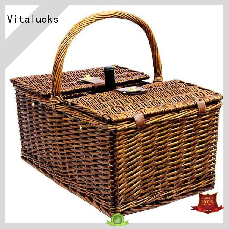 light-weight large wicker storage baskets with lids oem&odm free -sample