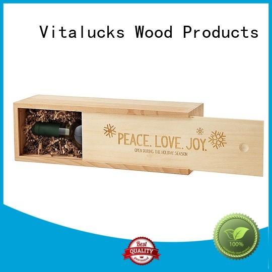 Vitalucks plain wooden box oem&odm large storage