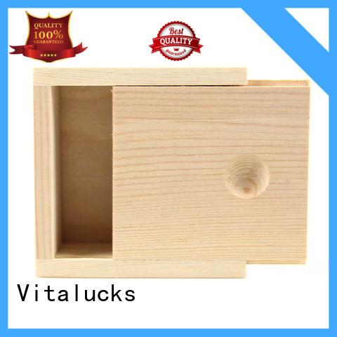 Vitalucks wooden tea box at discount