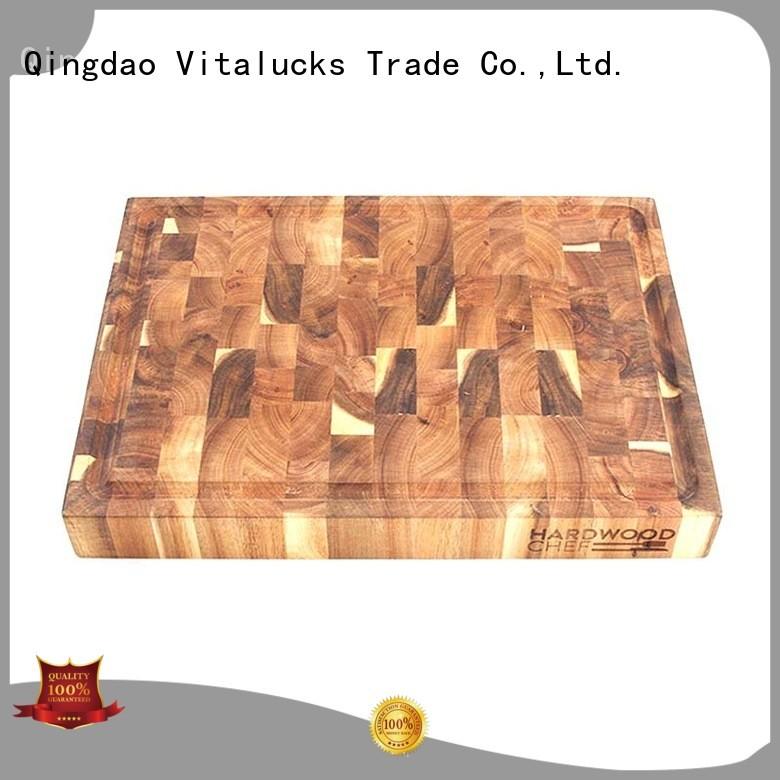 Vitalucks bamboo cutting board industrial for kitchen
