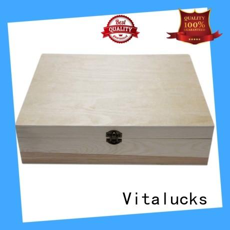 Vitalucks customized essential oil wood box OEM&ODM at discount