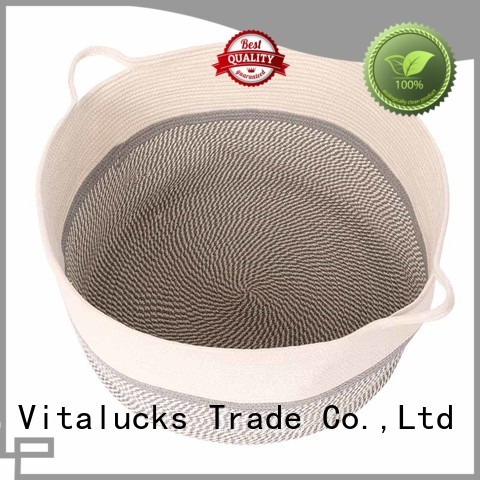 Vitalucks large rattan storage boxes with lids fast delivery