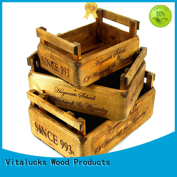 Vitalucks large wooden box high-quality at discount