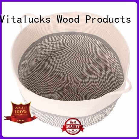 durable woven rope storage basket universal free -sample Vitalucks