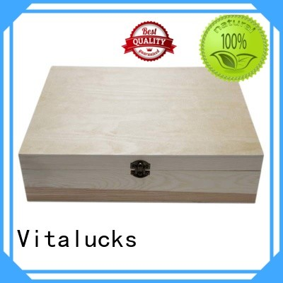 Vitalucks unique design plain wooden box OEM&ODM for pakaging