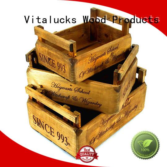 Vitalucks customized bulk unfinished wood boxes at discount