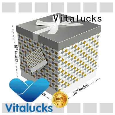 Vitalucks small cardboard packing boxes chemical-free magnetic closure