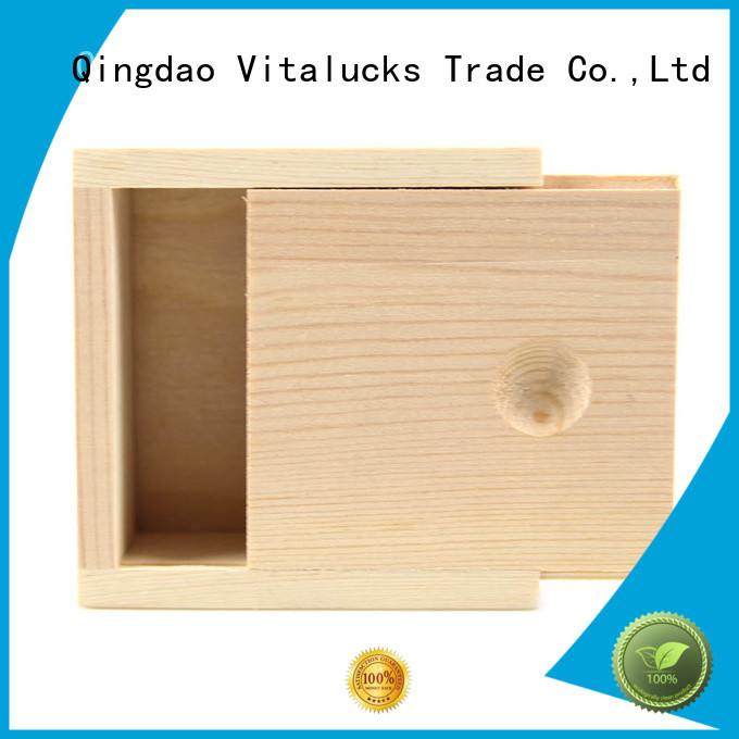 custom made small wooden boxes for pakaging Vitalucks