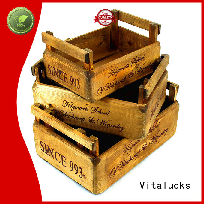 Vitalucks advanced production technology wooden crate box hot-sale