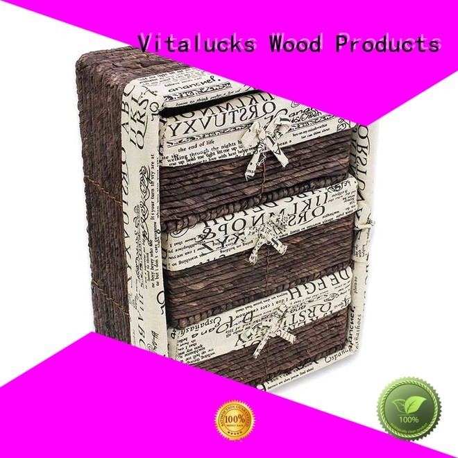 Nested wicker basket set 5 pcs with woven liner