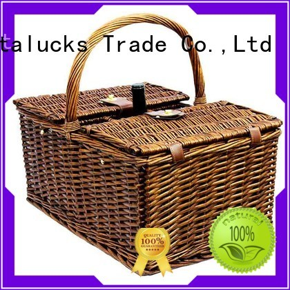 Vitalucks durable wicker storage box with lid at discount