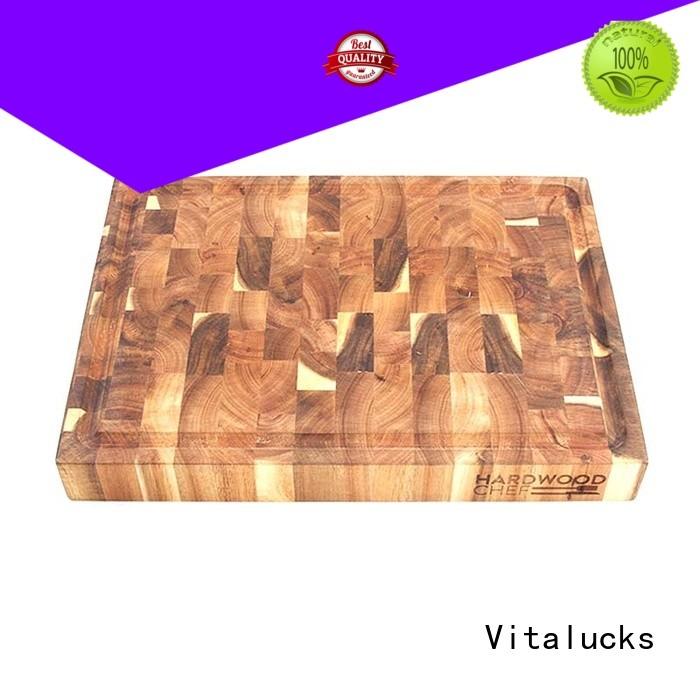 Vitalucks OEM &ODM wooden chopping board set for wholesale