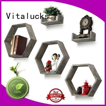 Vitalucks hot-sale natural wood floating shelves advanced equipment
