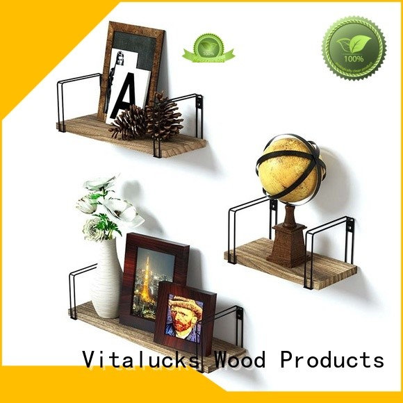 Hanging Wood Shelves With Natural walnut oil finish healthy and eco-friendly