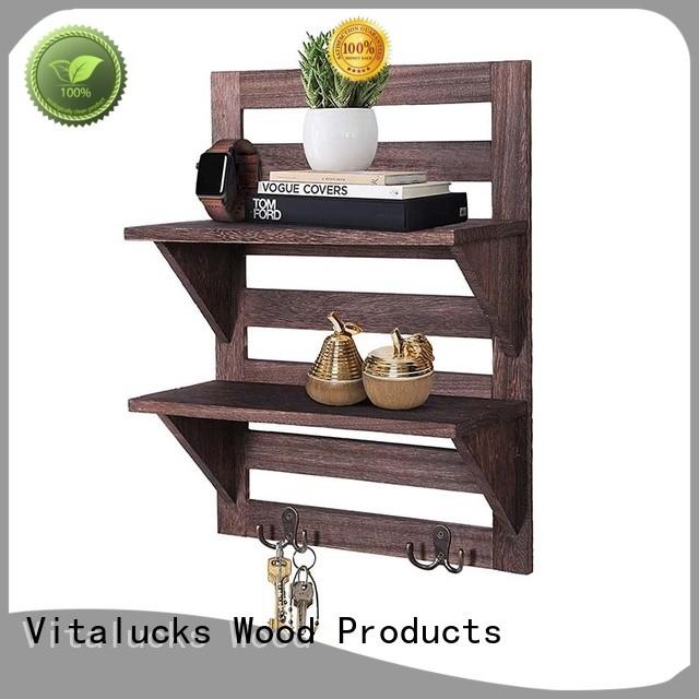custom floating wood shelves plain