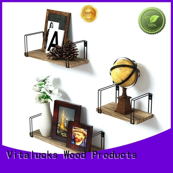 Vitalucks promotional wall hung shelving units