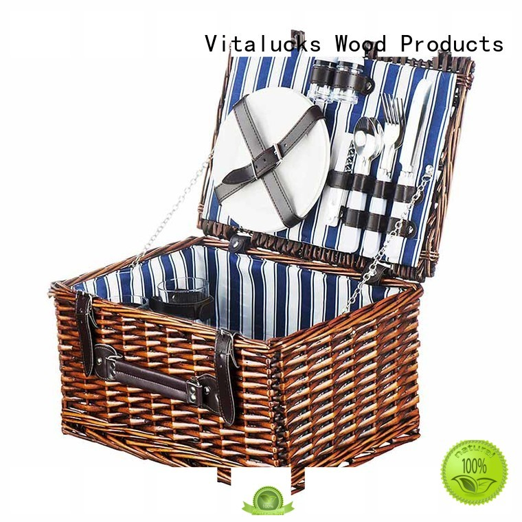 Large Wicker Baskets picnic basket 2 person set