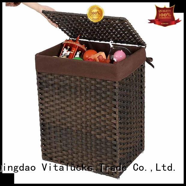 Vitalucks sustainable best basket solid wood oem&odm