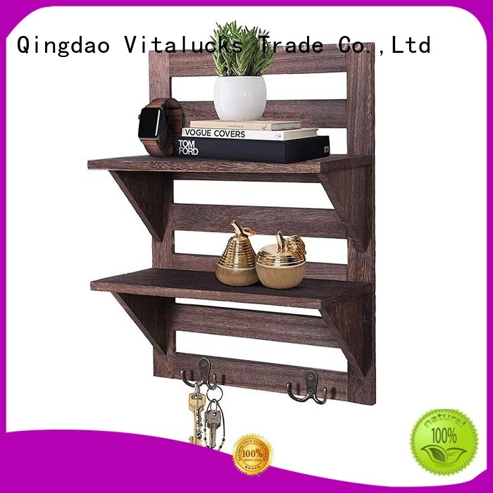 Vitalucks popular wall mounted wood shelving units for storage
