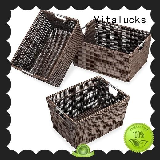 Vitalucks woven storage baskets oem&odm free -sample