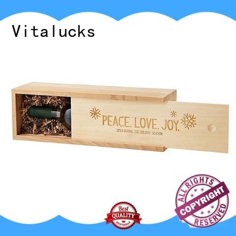 Vitalucks wooden wine box fast delivery bulk supply