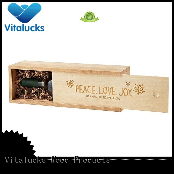 Vitalucks wooden wine boxes wholesale fast delivery large storage