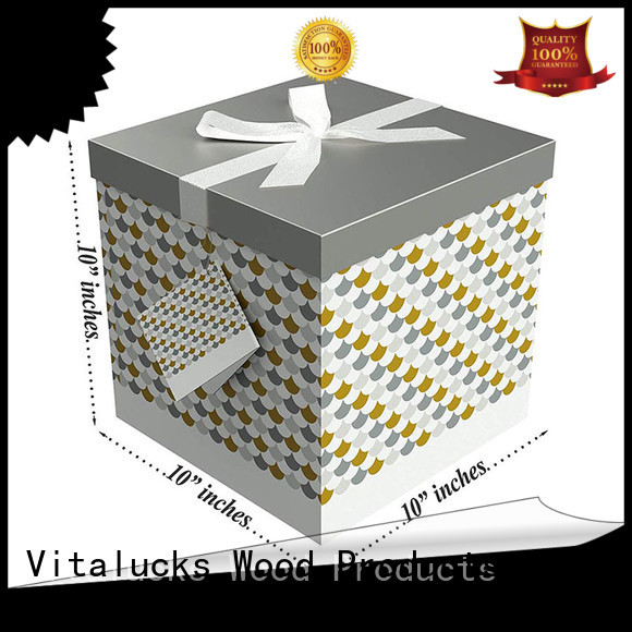 Vitalucks recycled custom cardboard packaging chemical-free free sample