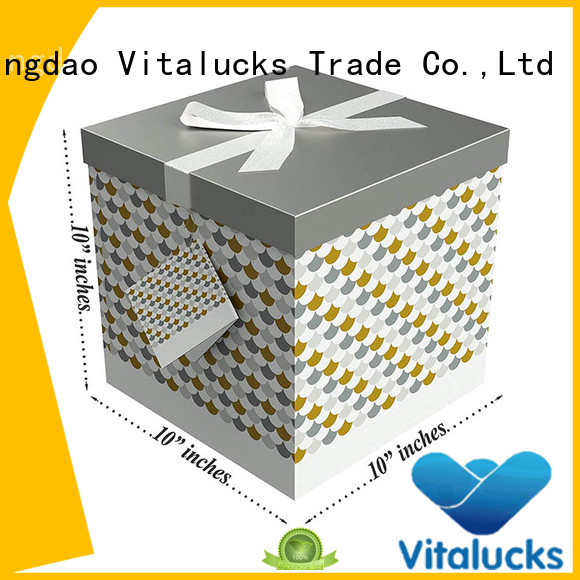 Vitalucks customized cardboard box gift packaging for storage