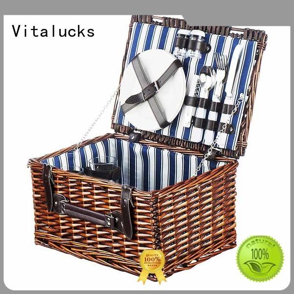 Vitalucks solid wicker storage baskets with lids universal free -sample
