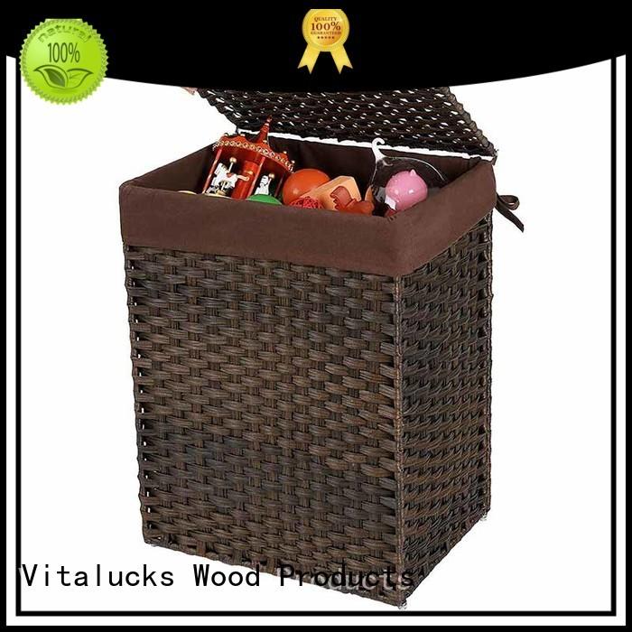 Custom Clothes Storage Basket Synthetic rattan clothes hamper