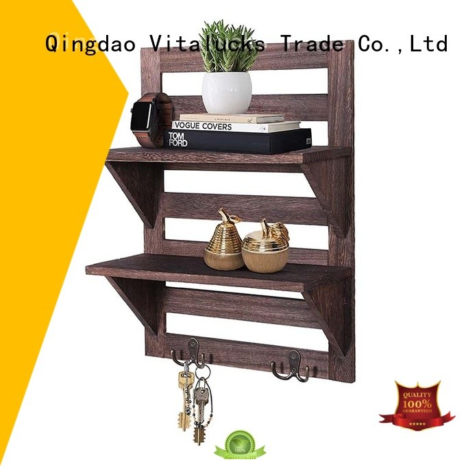 Vitalucks hanging wood shelves glossy