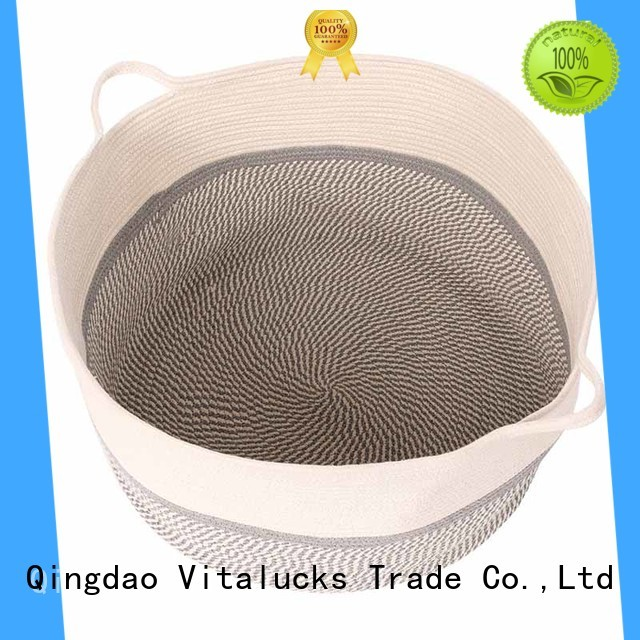 Vitalucks large wicker storage bins oem&odm at discount