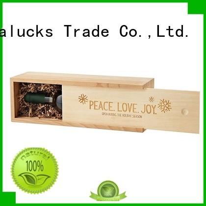 Vitalucks wooden wine box oem&odm for gift