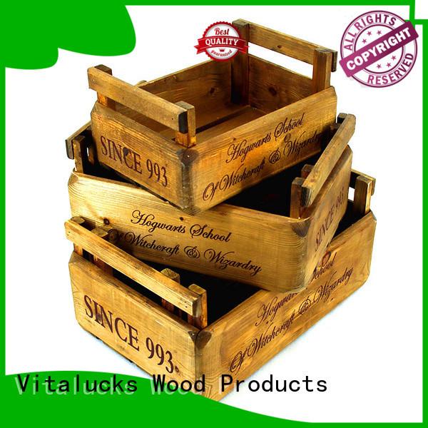 Vitalucks solid wooden gift crate popular