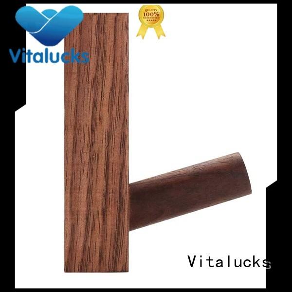 Vitalucks custom wooden coat hooks wall mounted plain for storage