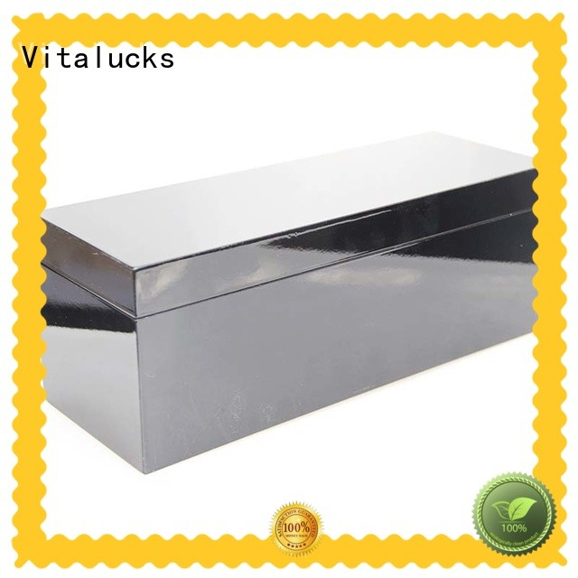 Vitalucks best price unfinished wood box with lid fast delivery
