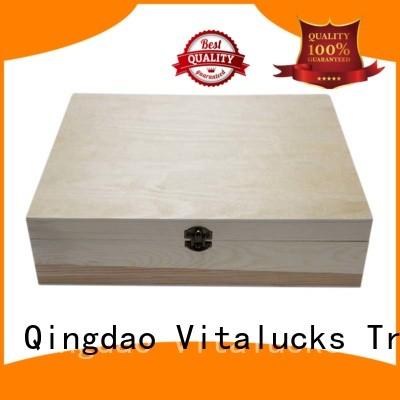 Vitalucks unfinished essential oil wood box OEM&ODM fast delivery