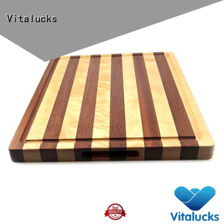 promotional wood cutting board with handle durable work of art
