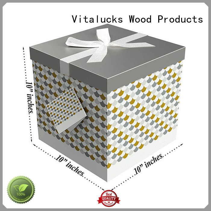 Gift packaging cartons paper cardboard box with color printing and tag