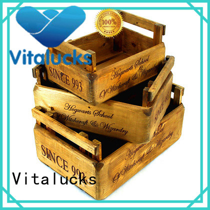 unfinished wood boxes wholesale for pakaging Vitalucks