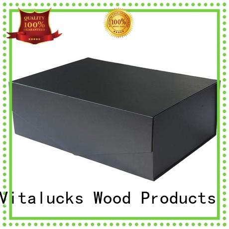 Vitalucks wine bottle wood box fast delivery bulk supply